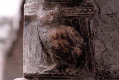 Owl, ca.1224-59, pulpit, cathedral of Sessa Aurunca