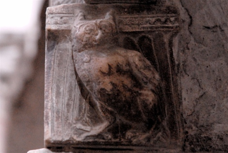 Owl, ca.1224-59, pulpit, cathedral of Sessa Aurunca