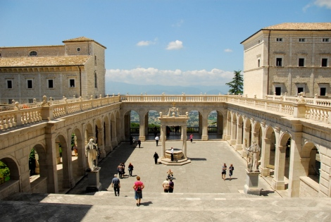 "So-called ""Cloister of Bramante"", Abbey of Montecassino"