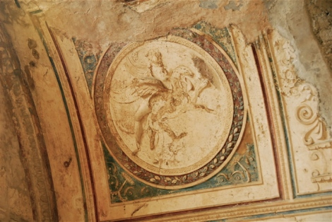 Stucco medallion in the baths, Pompeii
