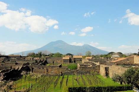 View of the Scavi toward Vesuvius