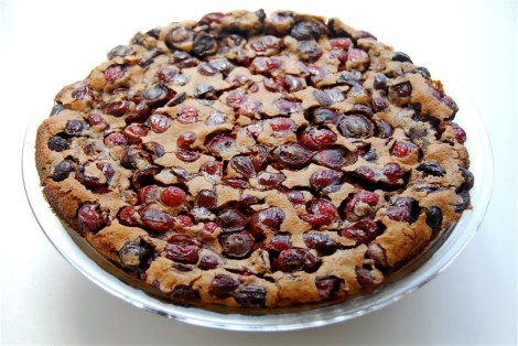 Chocolate cherry clafoutis