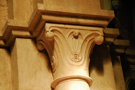 Capital in the nave of the abbey church of Fossanova