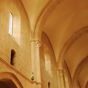 Partial view of the clerestory and vault, Fossanova Abbey