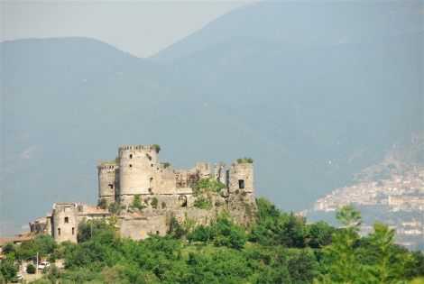 View of the castle and medieval borgo of Vairano Patenora