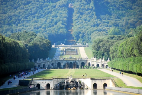 View of the Gardens of the Reggia di Caserta