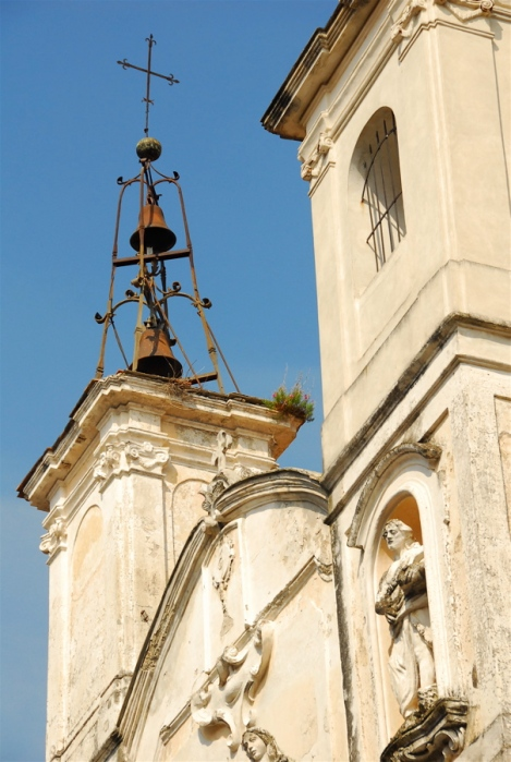 Bells atop one of the towers of San Giovanni in Piazza, Sessa Aurunca