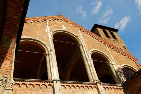 Detail of the facade, Sant'Ambrogio, Milan (click to enlarge)